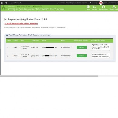 Prestashop Job (Employment) Application Form