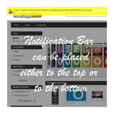Prestashop Notification and Announcement Bar