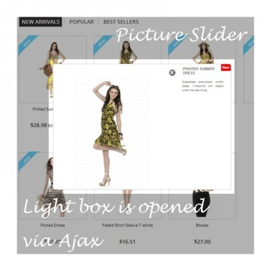 Prestashop Ajax Quick View and Product Slider