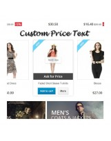 Custom Price Text / Hide Price on Prestashop