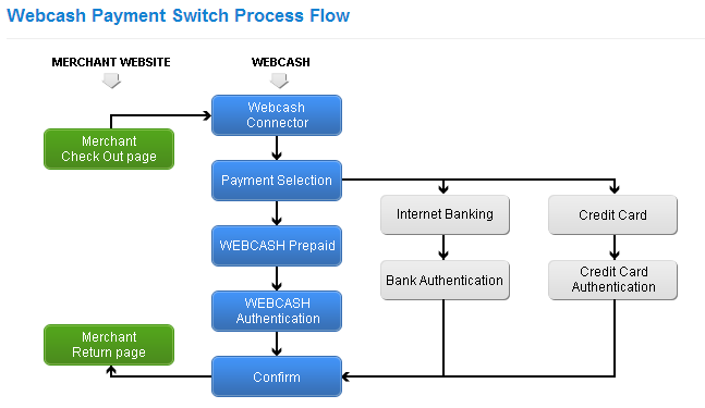 Webcash Process Flow